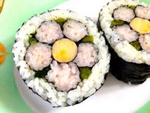 お花の飾り巻き寿司レッスン